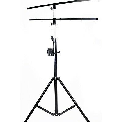 KKM Crank Lighting Stand 4Meters with Double 2 Meters T BAR 50Kg Load