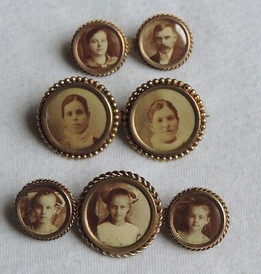 Victorian Mourning Brooch Pin Jewelry Lot Photo (id254)