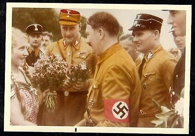 GERMANY NSDAP Leader Colorized Photo Reprint