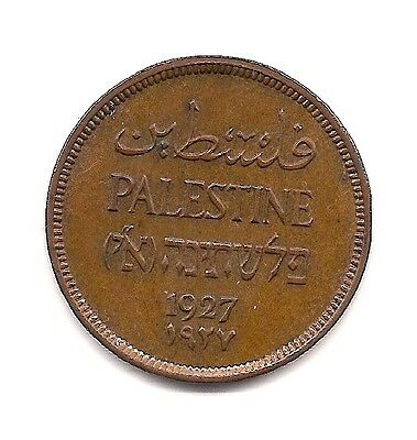 1927 Palestine One Mil--Fabulous Details !!