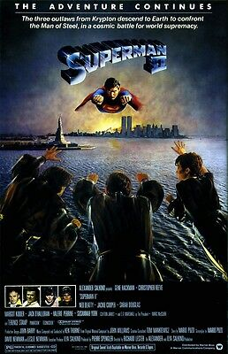Superman movie poster (b)  : 11 x 17 inches - Christopher Reeve, Superman II