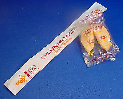 McDonalds 1987 Fortune Cookie / Chopsticks Shanghai McNuggets Sealed Canada NOS