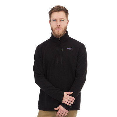 Patagonia - Better Sweater 1/4 Zip Fleece Jacket Black Pullover Rundhals