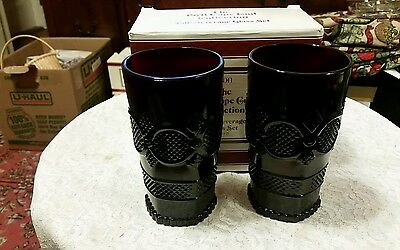 ** Set of TWO (2) - TALL Beverage Tumbler GLASSES - AVON - Cape Cod -NEW in BOX