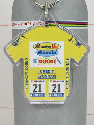Marco Pantani 1998 Yellow Tour De France Cycling Jersey Keyring Rapha