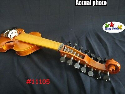 """Baroque style SONG 7×7 strings 14"""" Viola d'Amore,big and powerful sound #11105"""