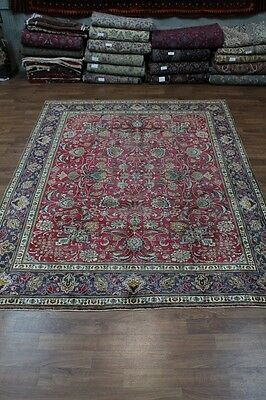 All Over Floral Handmade Antique Tabriz Persian Oriental Area Rug Carpet 10x12