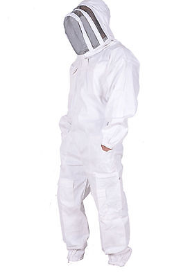 Full Beekeeping Suit Protective Beekeeper with Veil Pest Control Bee Costume