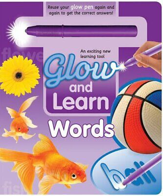 Words (Glow and Learn) by Hinkler Books PTY Ltd Book The Cheap Fast Free Post