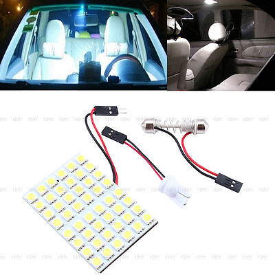 New White 48 SMD COB LED T10 4W 12V Car Interior Panel Light Dome Lamp Bulb SD