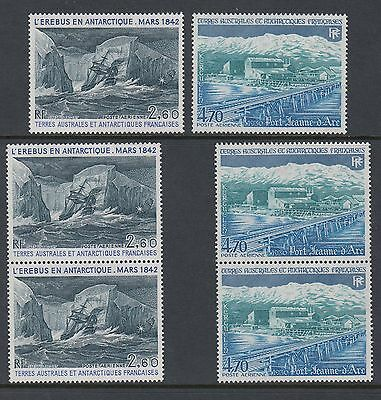 FRENCH ANTARCTIC 1984 AIRS 2 TYPES 3 of each, Mint Never Hinged
