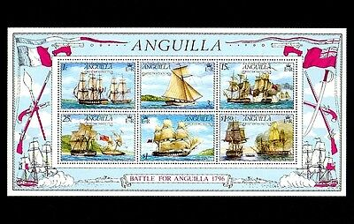 Anguilla - 1976 - Sailing Ships - Warships - Battle Of Anguilla - Mnh S/sheet!