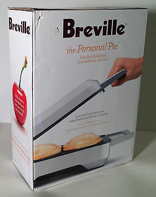 """Breville Personal Pie Maker - #BP1640XL - 4 Individual Pie Molds 4"""" - New in Box"""