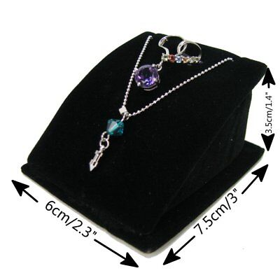 20 Pcs X Necklace Pendant Set Jewellery Retail Display Holder Stand Black Velvet