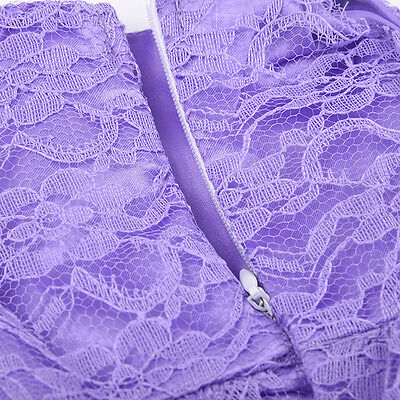 Purple Lace Dress For 18 Inch American Girl Doll Handmade Party Tackle Craft