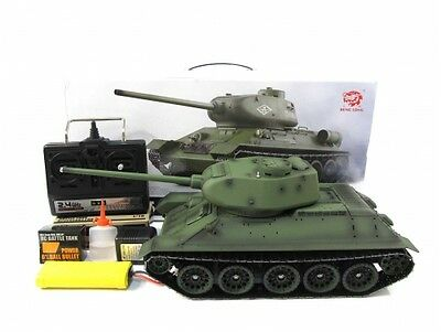 Heng Long Henglong 1/16 R/C S&S Russian T-34/85 Tank (Super Version 2.4G)