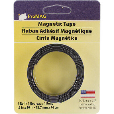 """""""ProMag Adhesive Magnetic Tape-.5""""""""X30"""""""""""""""