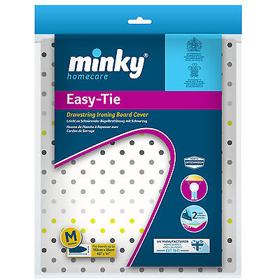 Minky Drawstring Easy Tie Ironing Board Cover - - Choice of Size