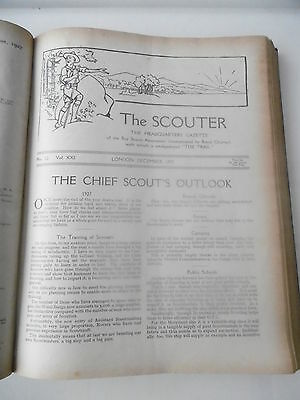 1927 1928   The Scouter Magazine 24 Bound Copies The Boy  Scouts Scouting