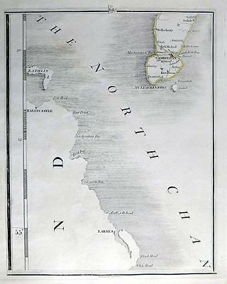 SCOTLAND  CAMPBELTOWN  MULL OF KINTYRE  JOHN CARY GENUINE ANTIQUE MAP  c1794