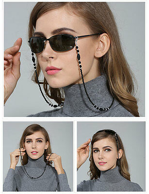 "Hot Beaded Glasses / Sunglasses Spectacle Beads Chain Strap Cord Holder 27"" Long"
