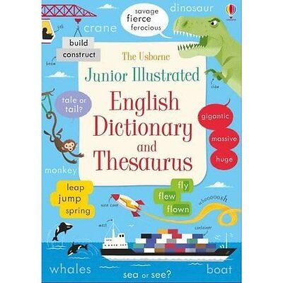 Junior Illustrated English Dictionary and Thesaurus (Il - Paperback NEW Felicity