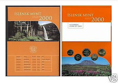 Iceland Official 2000 Commemorative Coins in presentation box,LIMITED 10000 SETS