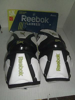 Reebok 5K LacrossE Elbow Guards (White/Black/Lime)-Large (NEW)-V50797