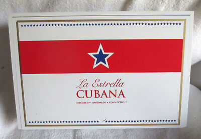 La Estrella Cubana White Wood Cigar Box -  Beautiful!
