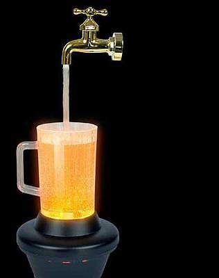MAGIC BEER MUG Lighted Pitcher Magic Fountain Water TABLE TOP LAMP DRINK PICTURE