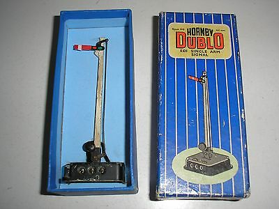 ED1 Hornby Dublo Single Arm Signal Electrically Operated Home. Boxed.