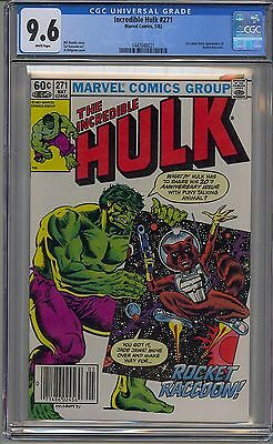 Incredible Hulk #271 Cgc 9.6 White Pages 1St Rocket Raccoon Newsstand