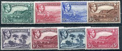 1938/48 - Montserrat - Selection Of 8, Mint