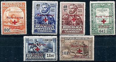 1932 - Portugal - Red Cross Set Of 6, Mint