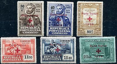 1929 - Portugal - Red Cross Set Of 6, Mint