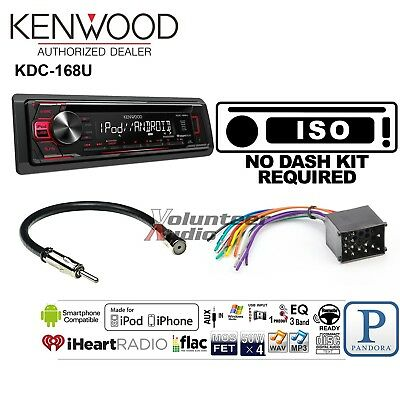 Kenwood Car Radio Stereo CD Player Dash Install Mounting Kit Harness Antenna