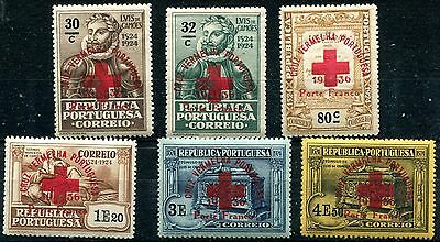 1936 - Portugal - Red Cross Set Of 6, Mint