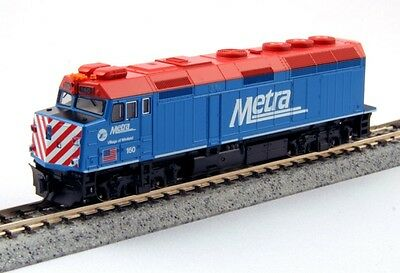 Kato 176-9101 N EMD F40PH Chicago Metra #137 Locomotive