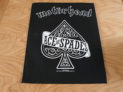 Motorhead - Ace Of Spades Giant Back Patch (New) & Official Band Merchandise