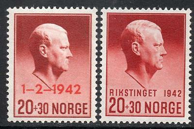 NORWAY MNH 1942 Quisling, Head of the Government