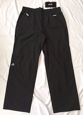 Ladies BlackAdidas ClimaProof Waterproof Golf Trousers size 12 NEW