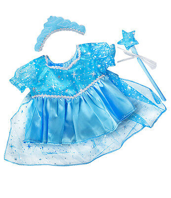 "Blue Snow Princess Gown / Dress / a teddy outfit clothes to fit 15"" build a bear"