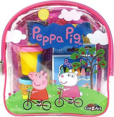 Cra-Z-Art Peppa Pig Ultimate Activities Backpack Building Kit Colors May ... New
