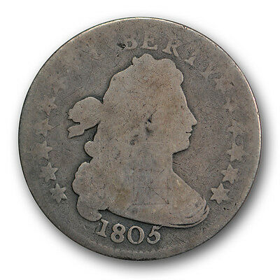 1805 10C 5 Berries Draped Bust Dime About Good AG US Type Coin R1602