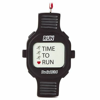"Running /Track ""Time to Run"" 2016 Timer Watch Ornament by Hallmark"
