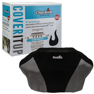 """Char-Broil 67"""" Grill Cover Heavy Duty Canvas Large Gas & Charcoal 4 Burner BBQ"""