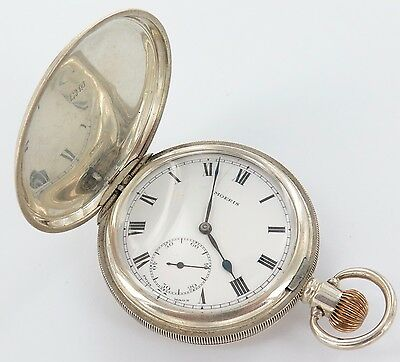 .1913 or 1938 MOERIS 15J 18S ENGLISH HALLMARKED STERLING SILVER P/WATCH WORKING