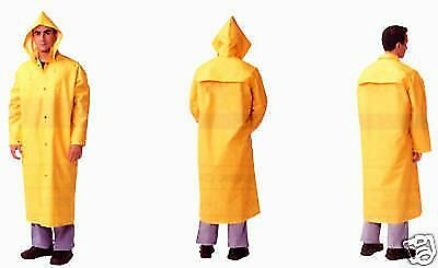 Yellow Security Guard Officer Police Public Safety Traffic Cop Rain Coat Xxl New