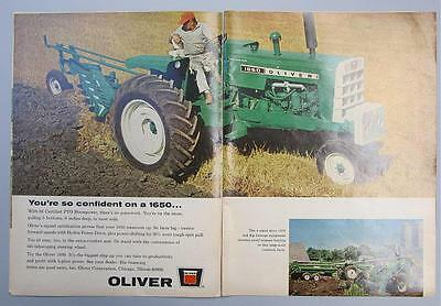 Original 1966 Oliver 1650 Tractor Ad YOUR SO CONFIDENT ON A 4 WHEEL DRIVE 1650