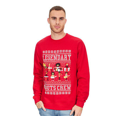 Roots, The - Legendary Holiday Crewneck Sweater Red Pullover Rundhals